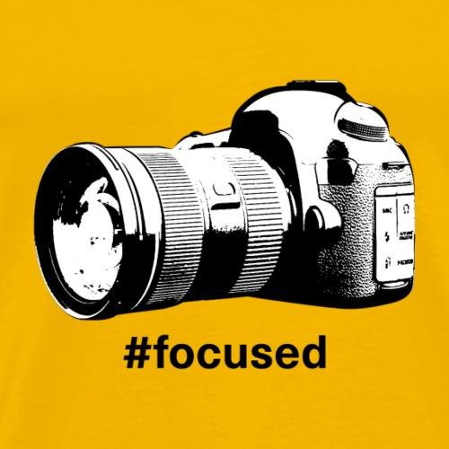 Focused - Camera Design (Black Letters) - Men's Premium T-Shirt