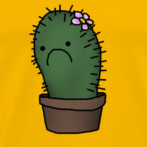 sad cactus - Men's Premium T-Shirt
