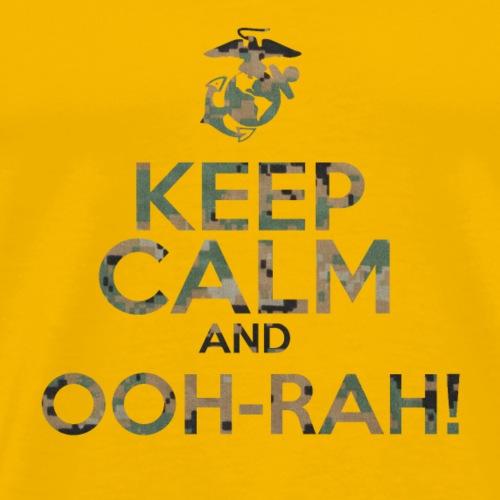 Keep Calm and OOH-RAH on! - Men's Premium T-Shirt