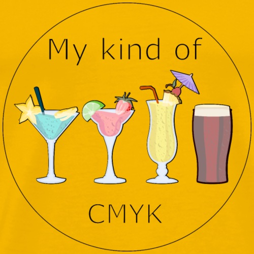 My kind of CMYK - Men's Premium T-Shirt