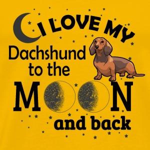05 i love my Dachshund black - Men's Premium T-Shirt