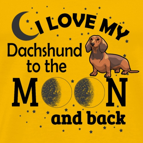 05 i love my Dachshund black - Men's Premium T-Shirt