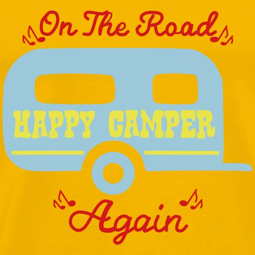 On The Road - Happy Camper - Again - Men's Premium T-Shirt