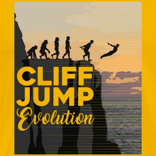 Cliff Jumping Evolution T-Shirt - Men's Premium T-Shirt