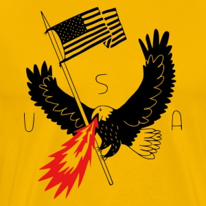 FIRE BREATHING BALD EAGLE OF PATRIOTISM - Men's Premium T-Shirt
