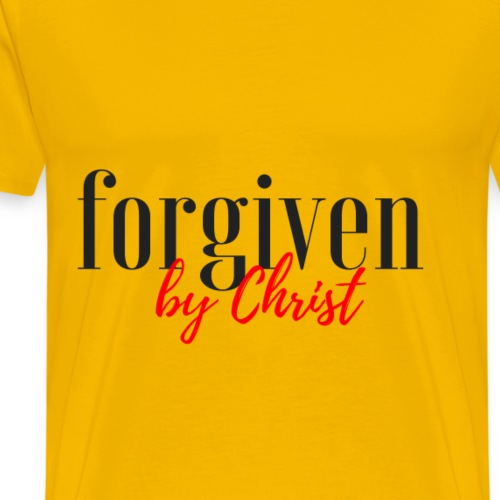 forgiven by christ - Men's Premium T-Shirt