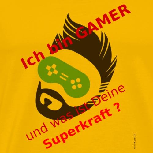 I am gamer - what´s your super power? - Men's Premium T-Shirt