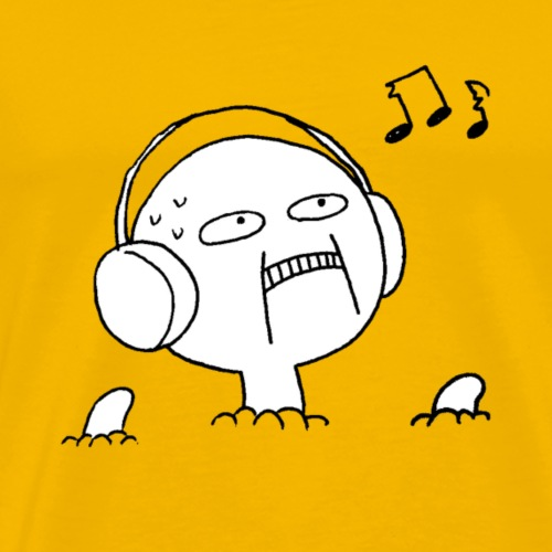 Uncomfortable Headphone Guy - Men's Premium T-Shirt