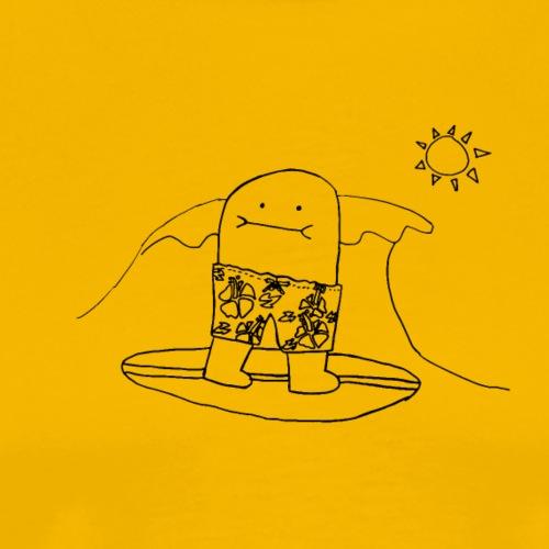 Surfing Bert Tshirt - Outline Only - Men's Premium T-Shirt