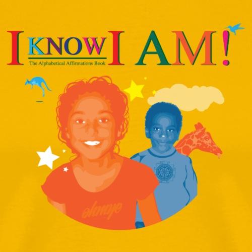I KNOW I AM! T-SHIRT LOGO 1 - Men's Premium T-Shirt