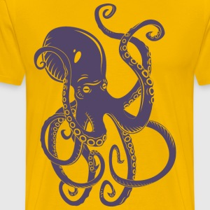 octopus-ocean-marine-animal-sea - Men's Premium T-Shirt