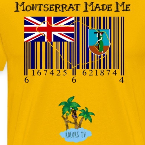 Montserrat made me - Men's Premium T-Shirt