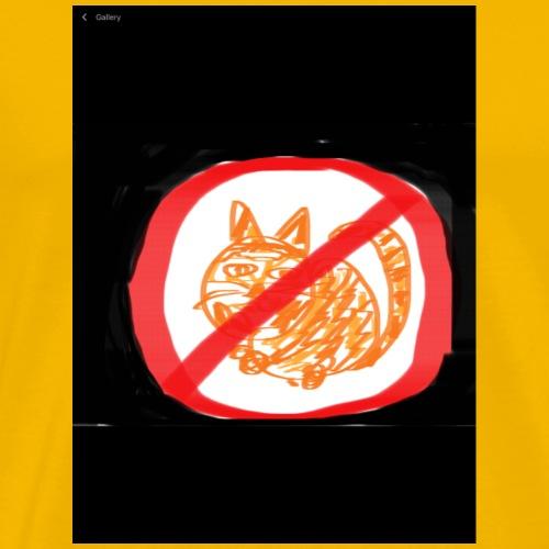 12 no cats ,puppy law - Men's Premium T-Shirt