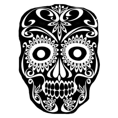 irregular black and white skull - Men's Premium T-Shirt