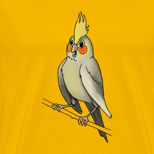 parakeet finch budgerigar budgie parot dove bird - Men's Premium T-Shirt
