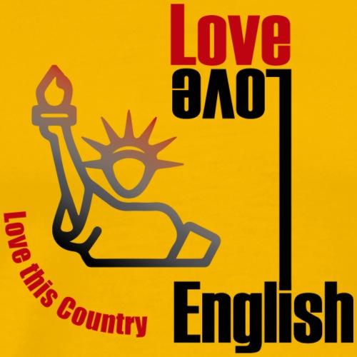 Love English, love USA - Men's Premium T-Shirt