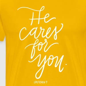 He Cares For You - Men's Premium T-Shirt