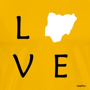 Love Nigeria (White Map) - Men's Premium T-Shirt