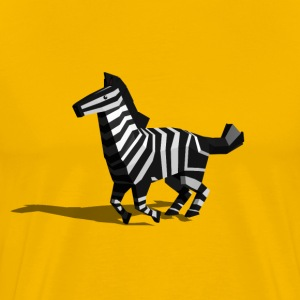 Running Polygon Zebra - Men's Premium T-Shirt