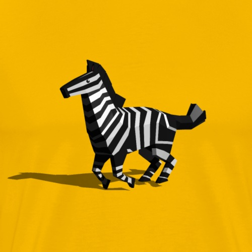 Running Polygon Zebra - Men's Premium T-Shirt