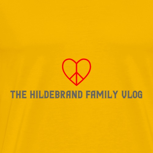 The Hildebrand Family Vlog Heart Logo Gray Letter - Men's Premium T-Shirt