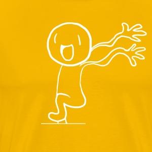 Happy Running Man (White)! - Men's Premium T-Shirt