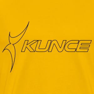 Kunce Original Black Outline Logo - Men's Premium T-Shirt