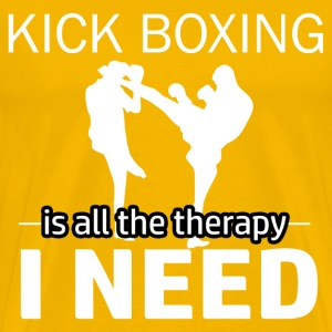 Kick Boxing is my therapy - Men's Premium T-Shirt