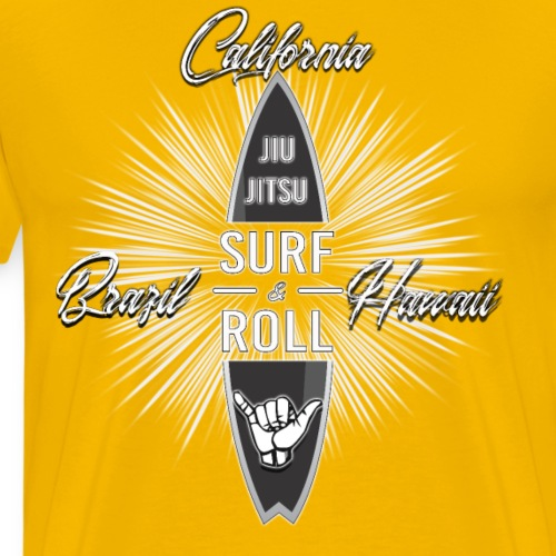 Surf and Roll Jiu-Jitsu Top - Men's Premium T-Shirt