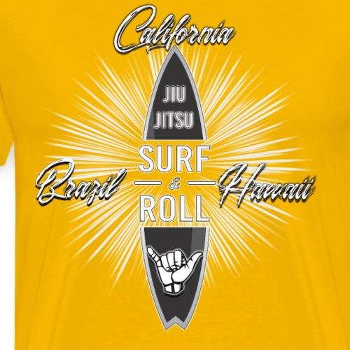 Surf and Roll Jiu-Jitsu Top - Men's Premium T-Shirt