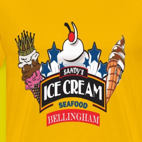 Sandy's Chill Spot ice Cream Bellingham T-Shirt - Men's Premium T-Shirt