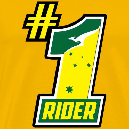 #1 Rider Aussie - Men's Premium T-Shirt