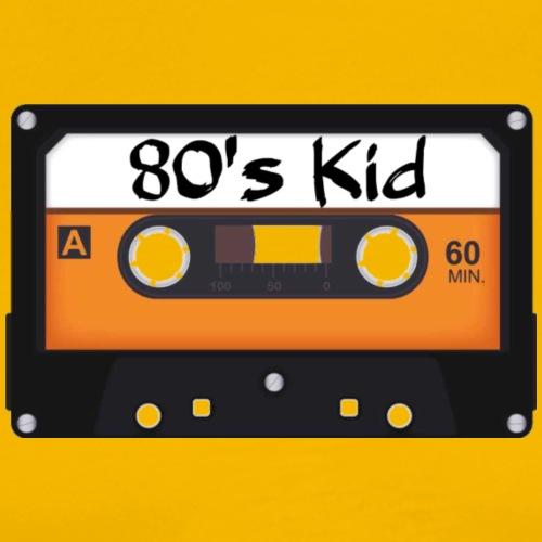 80's Kid Cassette Tape - Men's Premium T-Shirt