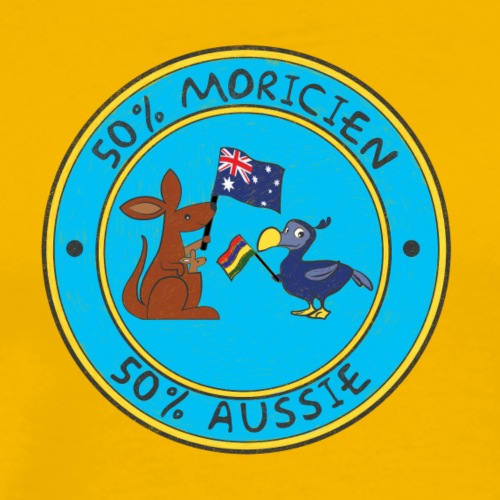 kangaroo & dodo Flags - Men's Premium T-Shirt