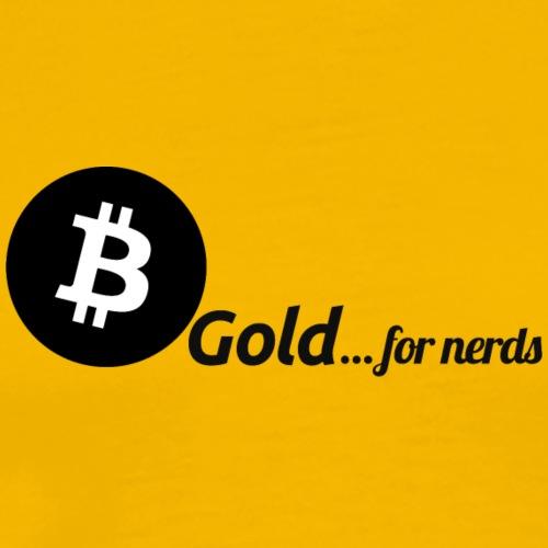 Bitcoin, gold for nerds. Black version. - Men's Premium T-Shirt