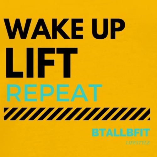 Wake Up Lift Repeat - Men's Premium T-Shirt