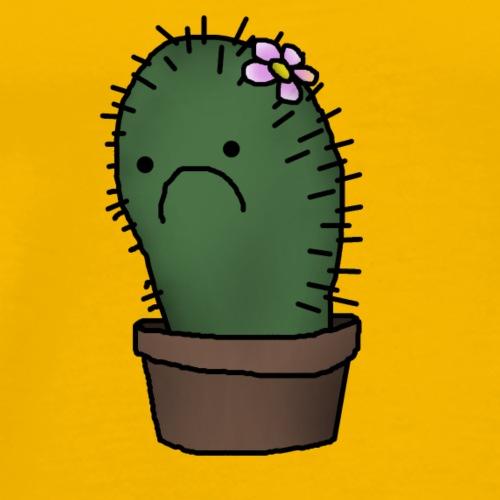 sad cactus - Men's Premium T-Shirt
