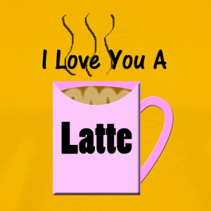 I Love You a Latte - Men's Premium T-Shirt