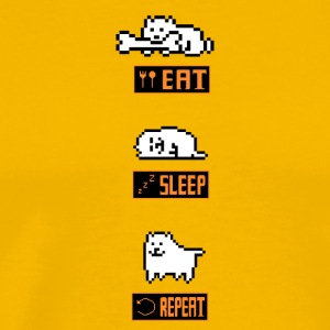 Annoying Dog Eat Sleep Repeat Tshirt - Men's Premium T-Shirt