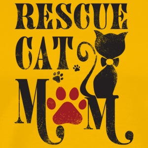 Rescue Cat Mom T Shirt - Men's Premium T-Shirt