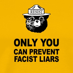 Only You Can Prevent Facist Liars Smokey Resist - Men's Premium T-Shirt
