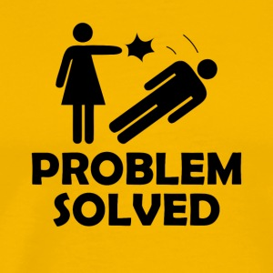 Problem Solved Funny Girlfriend / Wife Tee Shirt - Men's Premium T-Shirt
