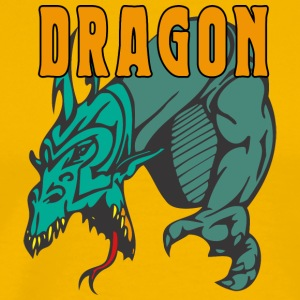 dragon_attacking_color - Men's Premium T-Shirt