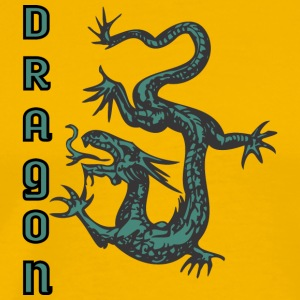 down_looking_dragon_color - Men's Premium T-Shirt