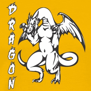 muscular_dragon_standing - Men's Premium T-Shirt