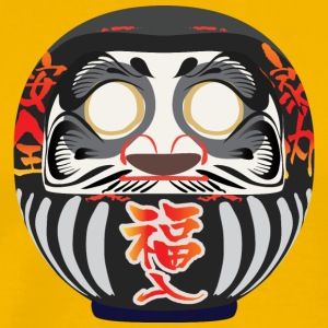 Daruma, a symbol of perseverance and good luck - Men's Premium T-Shirt