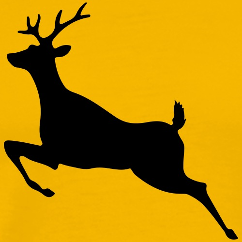 Caution - Deer Crossing - Men's Premium T-Shirt