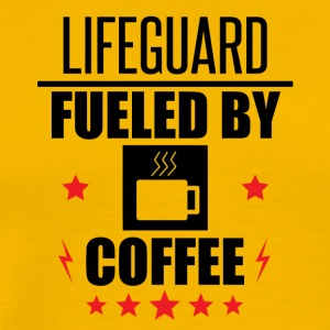 Lifeguard Fueled By Coffee - Men's Premium T-Shirt