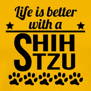 Life Is Better With A Shih Tzu - Men's Premium T-Shirt
