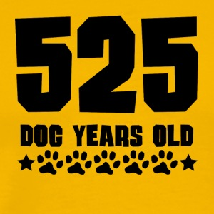 525 Dog Years Old Funny 75th Birthday - Men's Premium T-Shirt